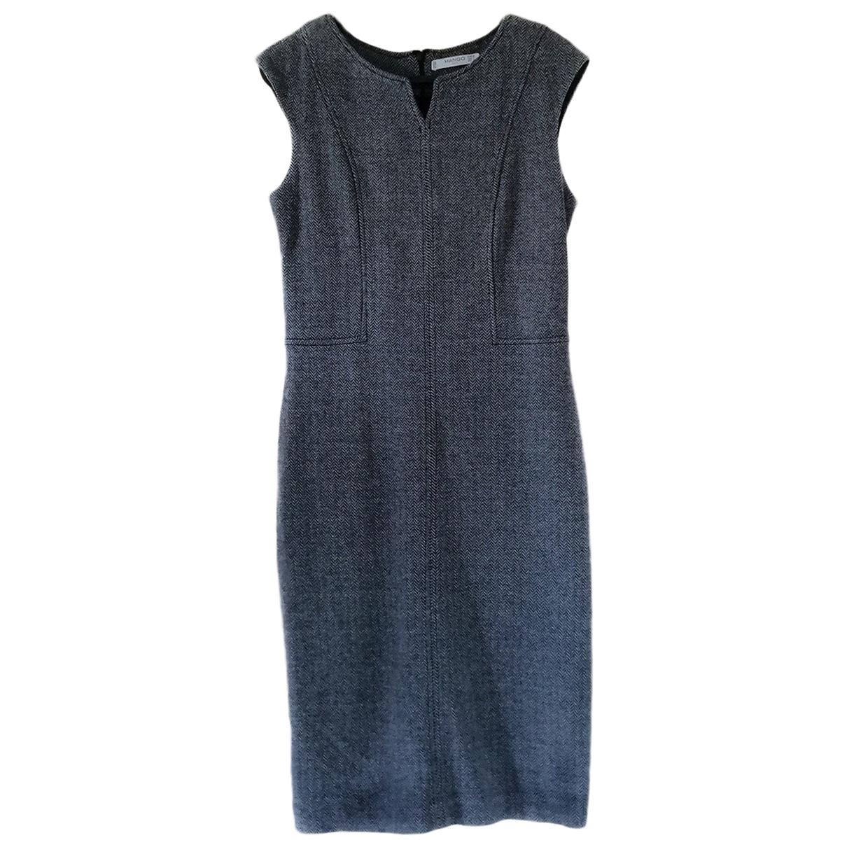 Mango \N Kleid in  Grau Viskose