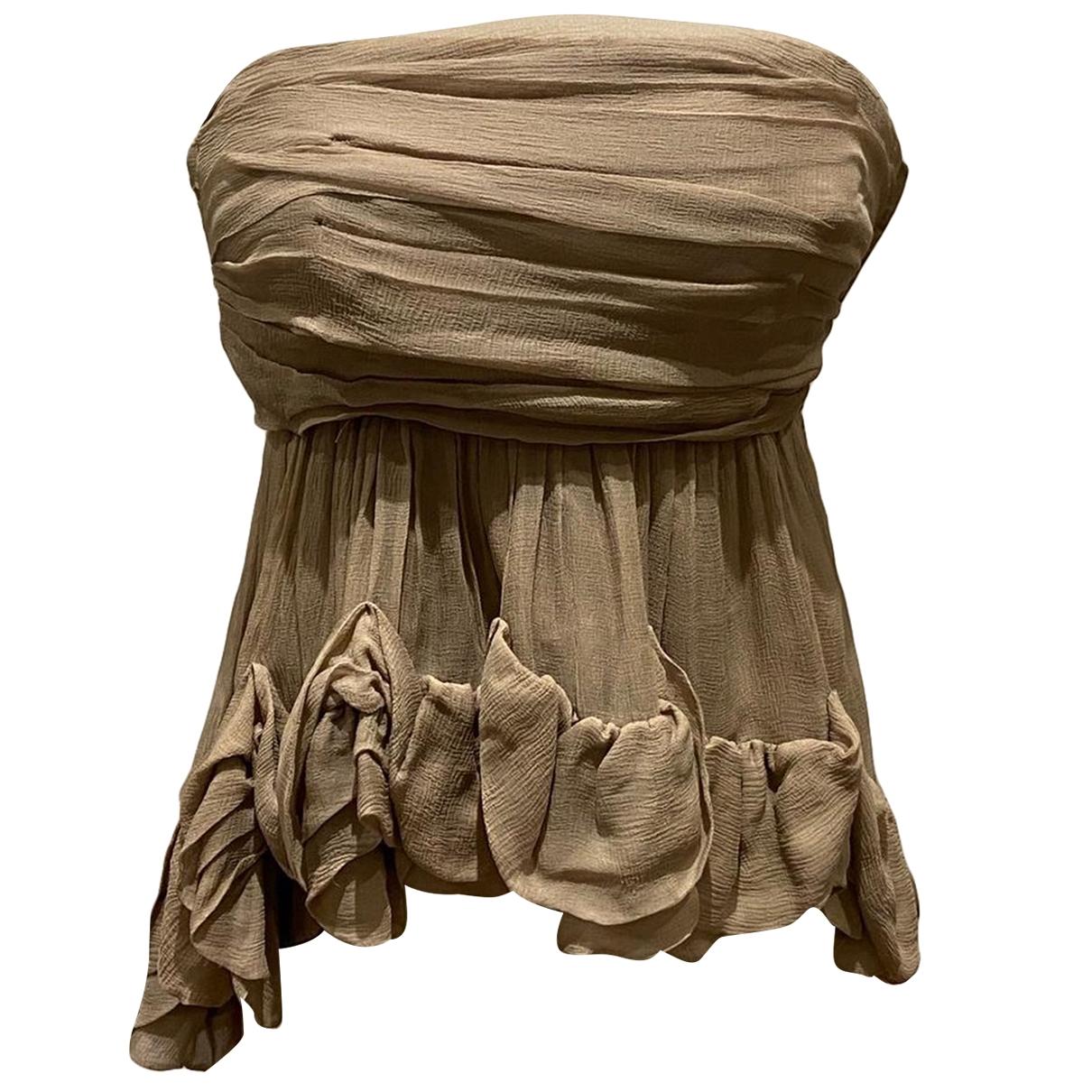 Moschino \N Beige Silk  top for Women 10 US