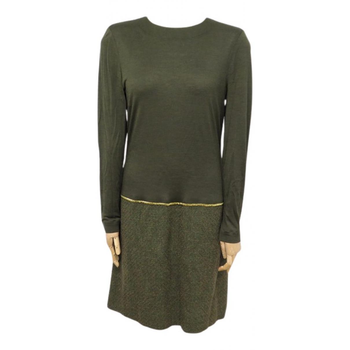 Chanel \N Kleid in  Khaki Baumwolle