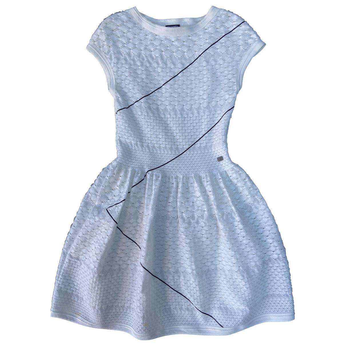 Chanel \N Kleid in  Weiss Viskose