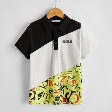 Polo Shirt mit Buchstaben Grafik