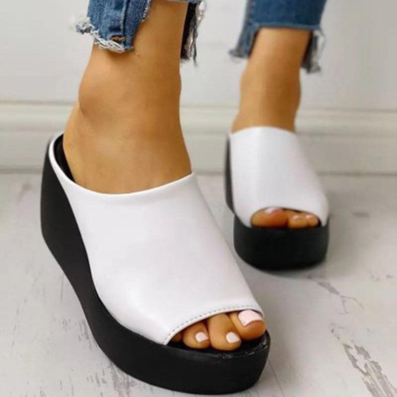 Ericdress Platform Slip-On Platform Casual Slippers