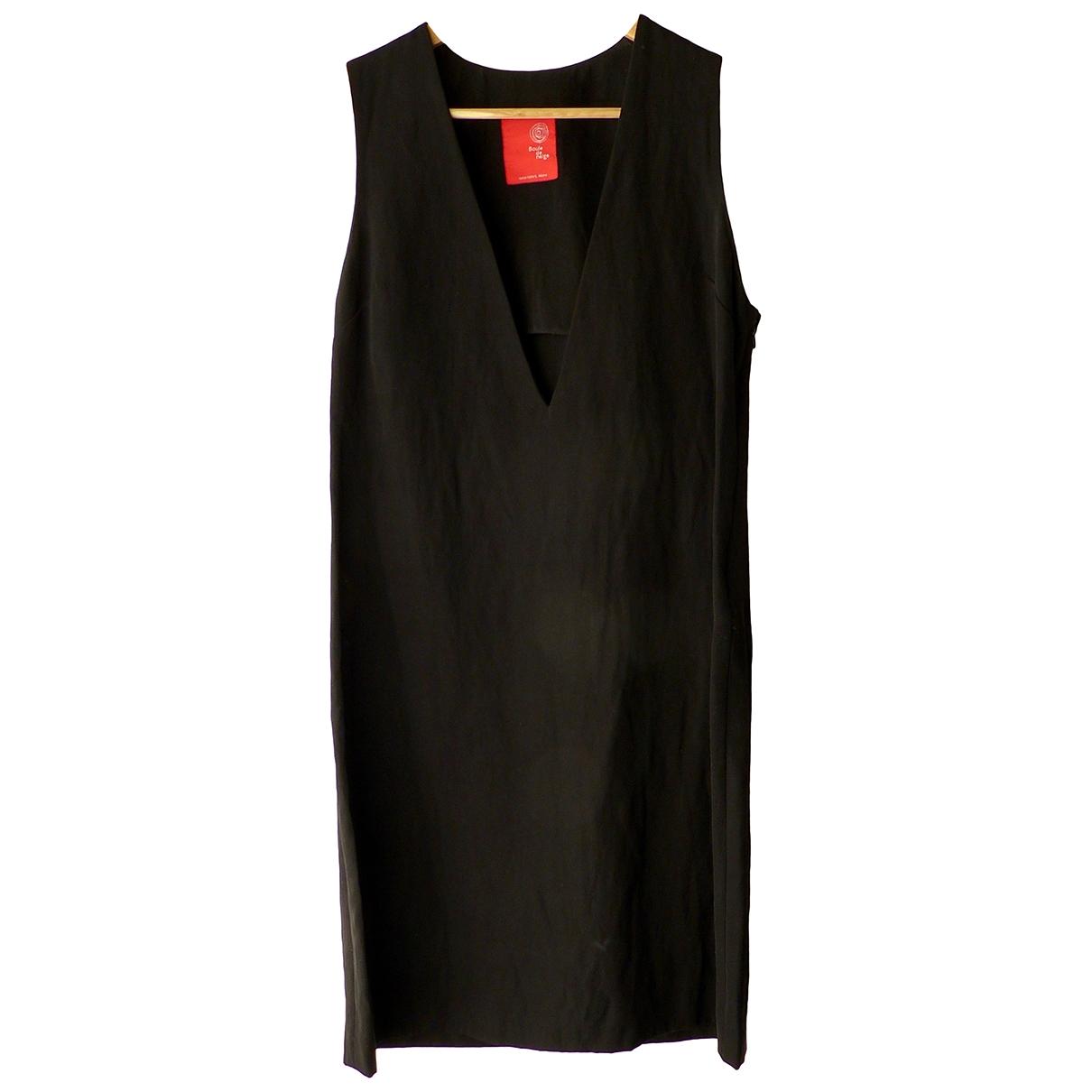 Non Signe / Unsigned \N Kleid in  Schwarz Wolle