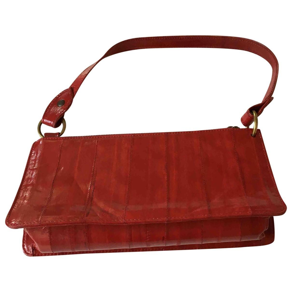 Charles Jourdan - Pochette   pour femme en cuir - rouge