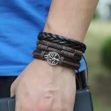 3 Stuecke Maenner Gewebtes Armband