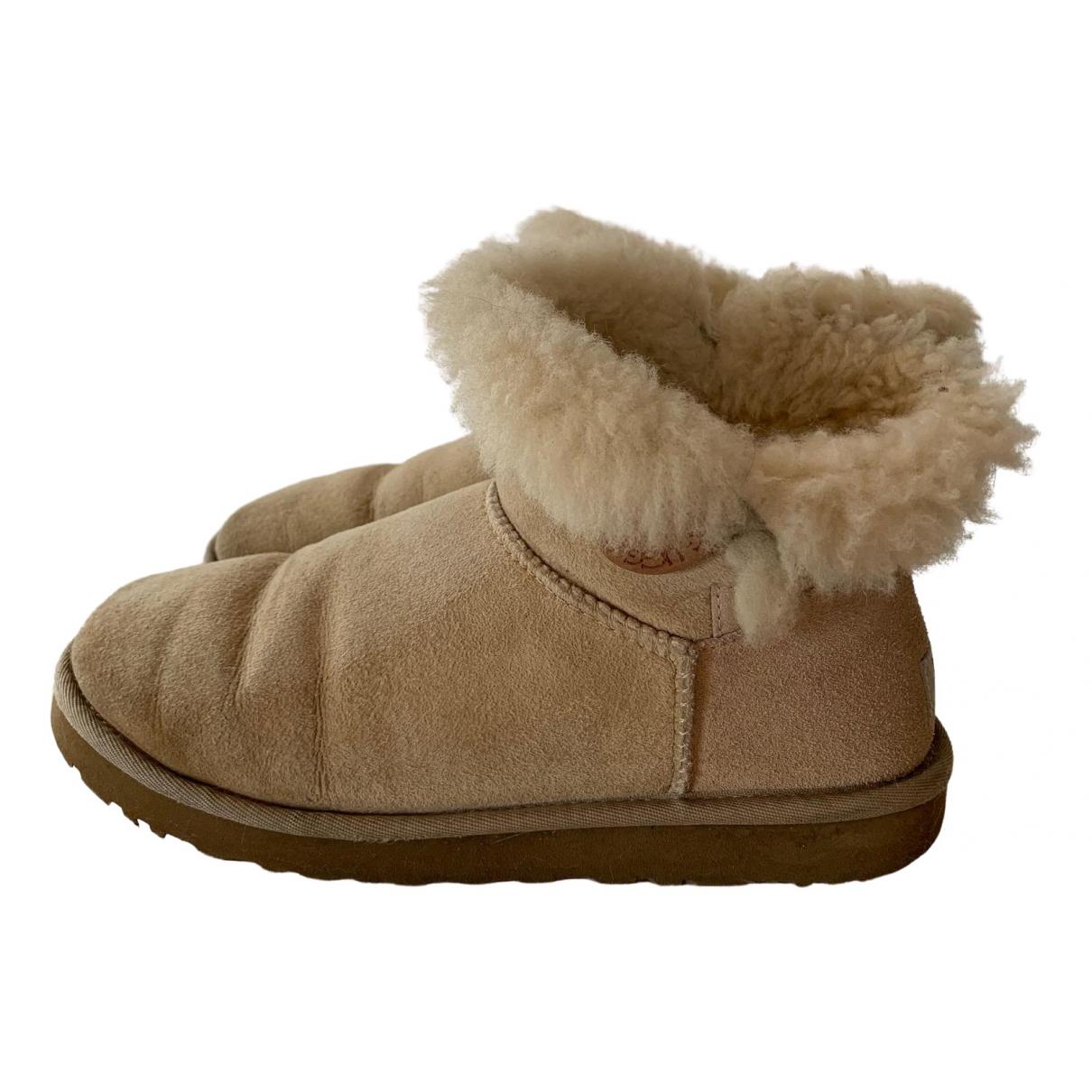 Ugg - Bottes   pour femme en mouton - blanc