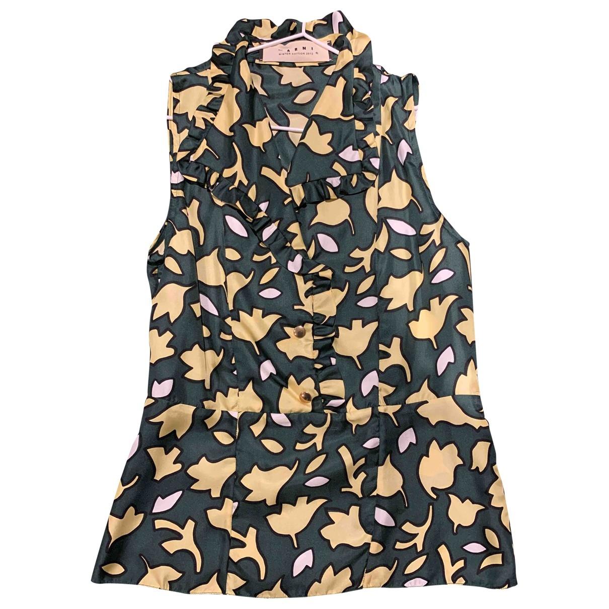 Marni \N Green Silk  top for Women 38 IT