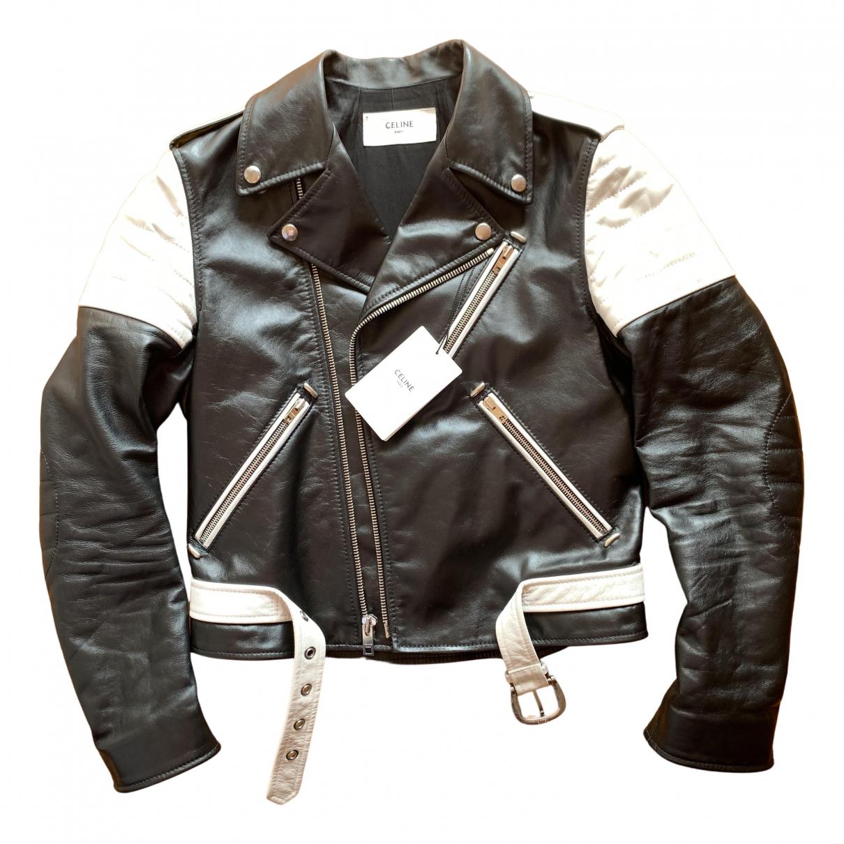 Celine N Black Leather jacket  for Men 46 FR
