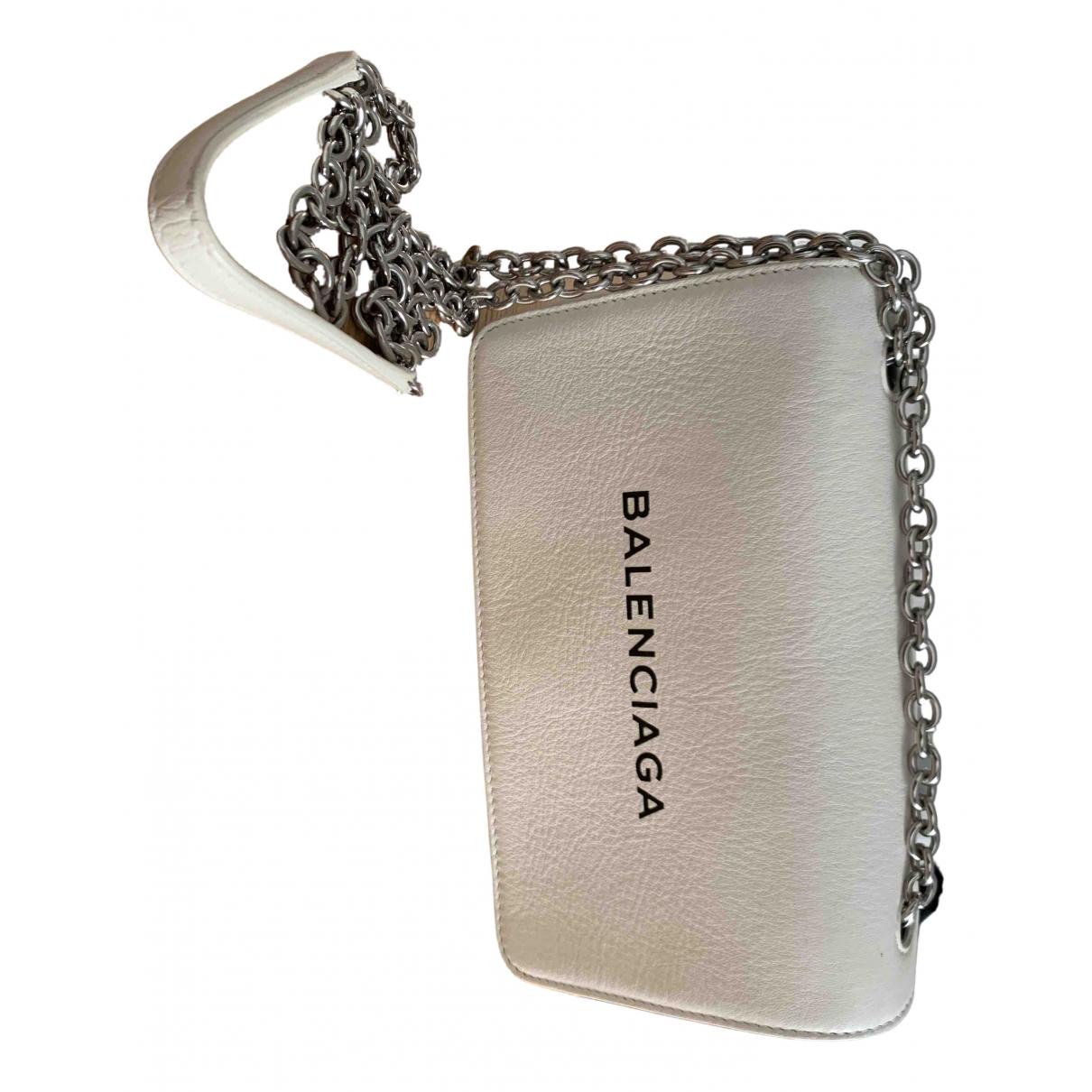 Balenciaga - Sac a main   pour femme en cuir - blanc