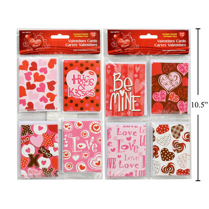V'tines 12ct. Mini Cards, card size: 2.7