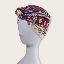 Turban Hut mit geometrischem Muster