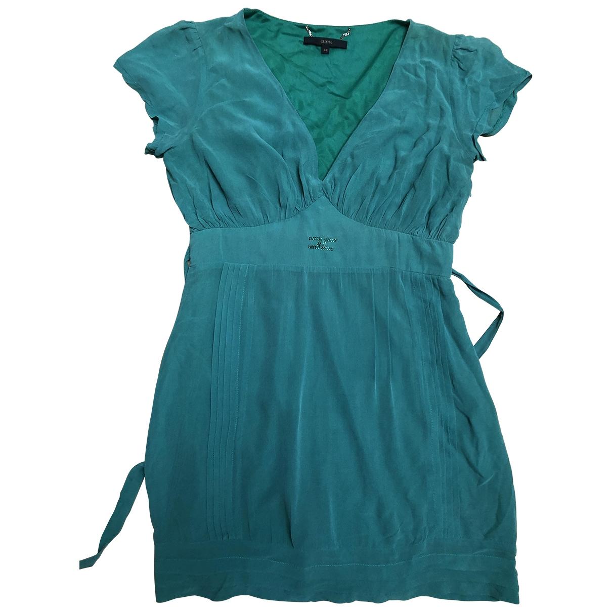 Elisabetta Franchi \N Green Silk dress for Women 44 IT