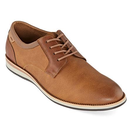 JF J.Ferrar Mens Thornton Oxford Shoes, 10 Medium, Brown