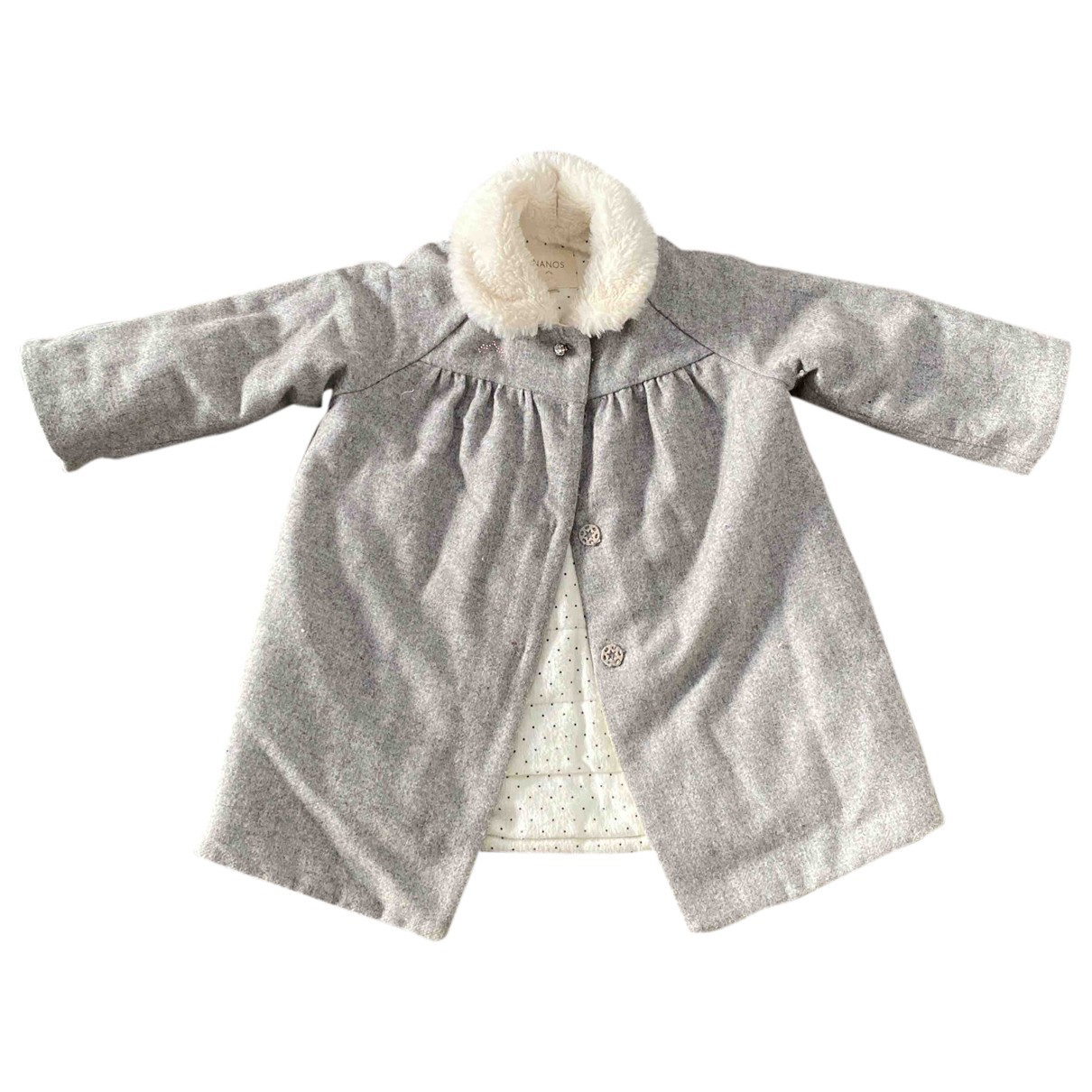 Nanos N Grey Wool jacket & coat for Kids 18 months - up to 81cm FR