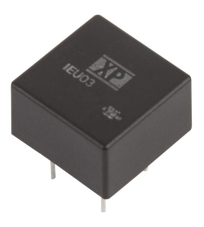 XP Power IEU03 3W Isolated DC-DC Converter Through Hole, Voltage in 9 → 18 V dc, Voltage out 3.3V dc
