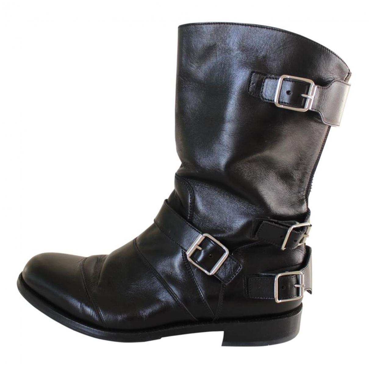 Balmain \N Brown Leather Boots for Women 43 EU