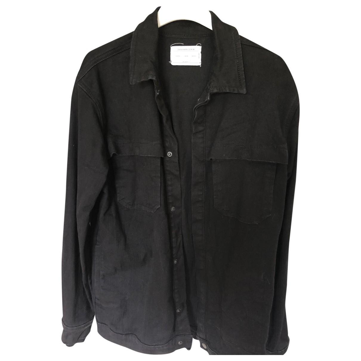 Zara - Vestes.Blousons   pour homme en denim - noir