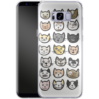 Samsung Galaxy S8 Plus Silikon Handyhuelle - 28 Cats von caseable Designs
