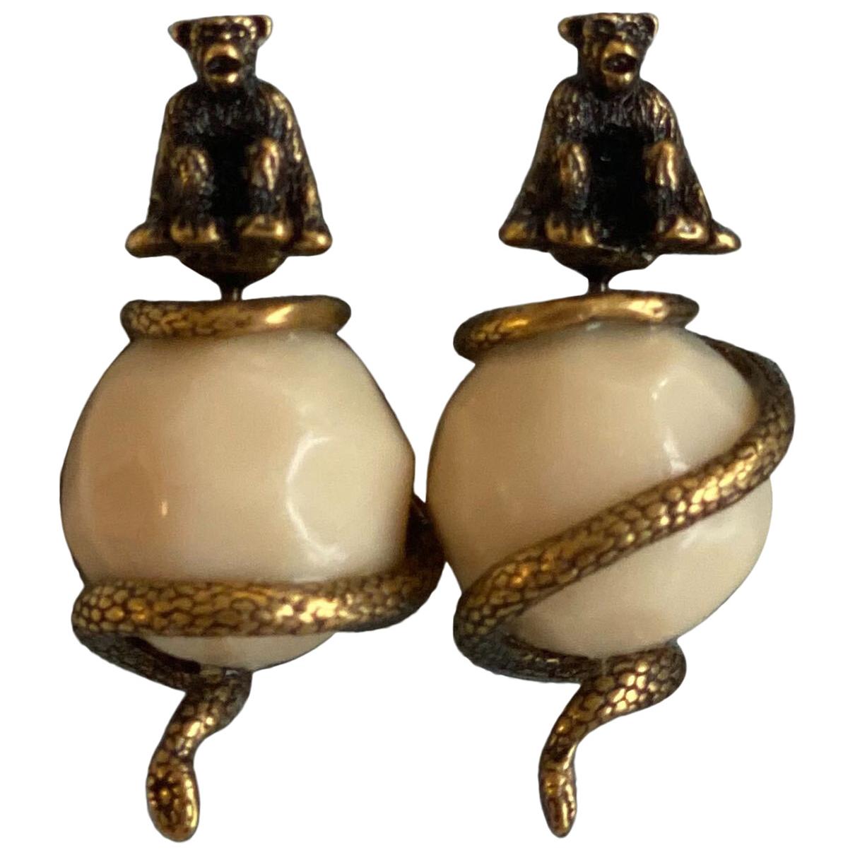 Dior - Boucles d'oreilles   pour femme en autre - blanc