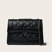Quilted Flap Chain Shoulder Bag