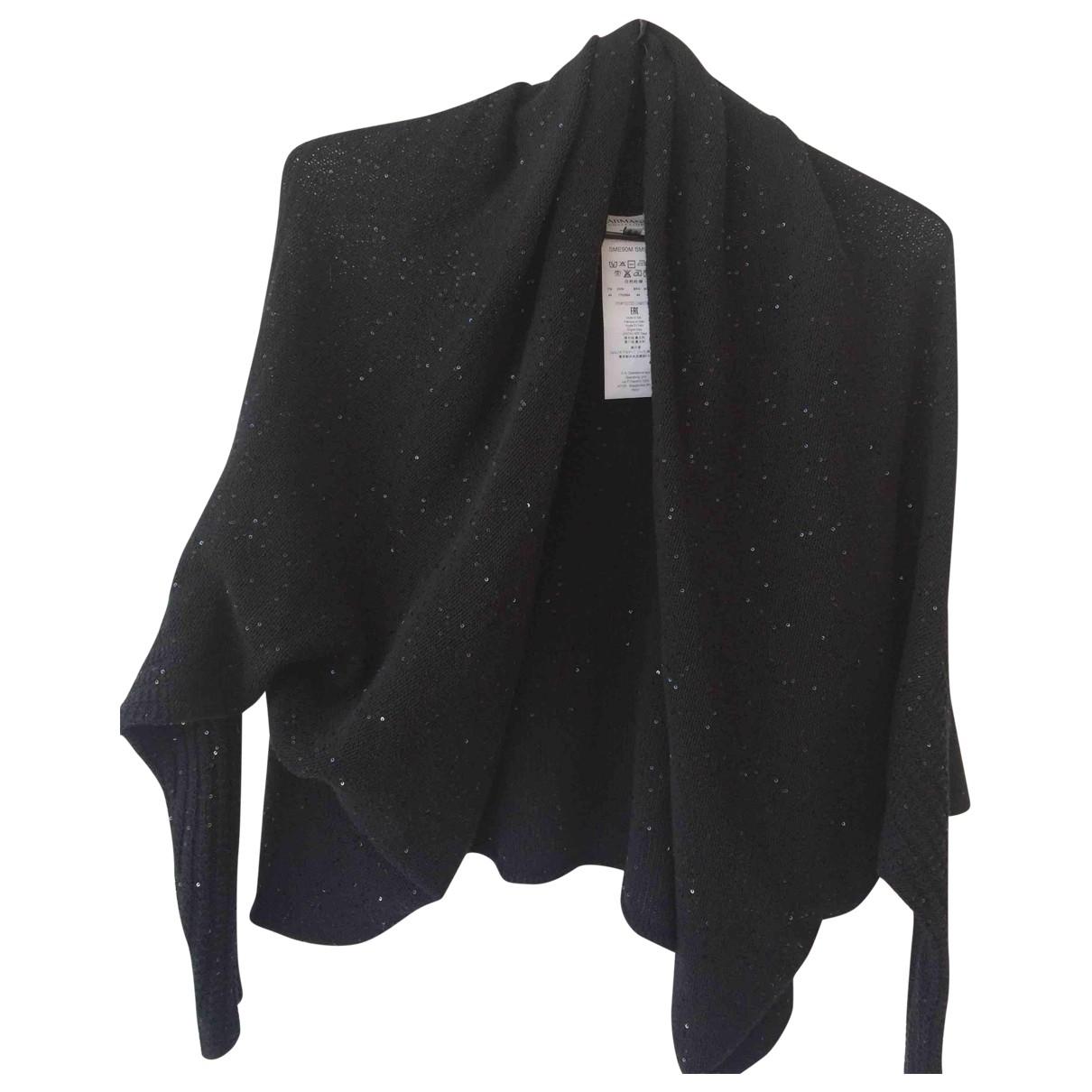 Armani Collezioni - Pull   pour femme en coton - noir