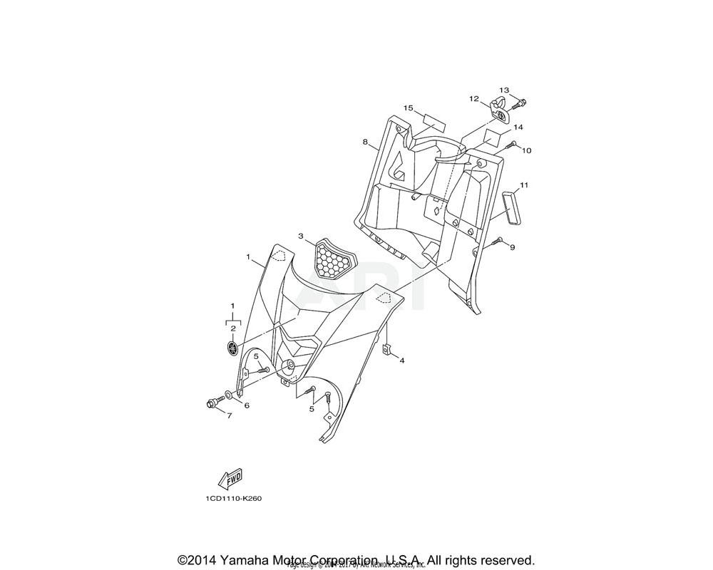 Yamaha OEM 5TY-F1569-00-00 GRAPHIC 1