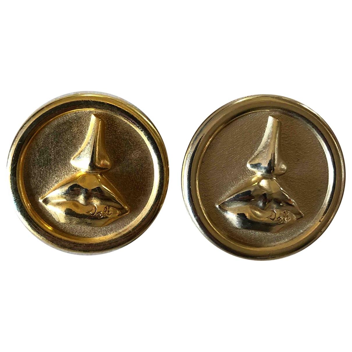 Salvator Dalì \N Gold Metal Earrings for Women \N