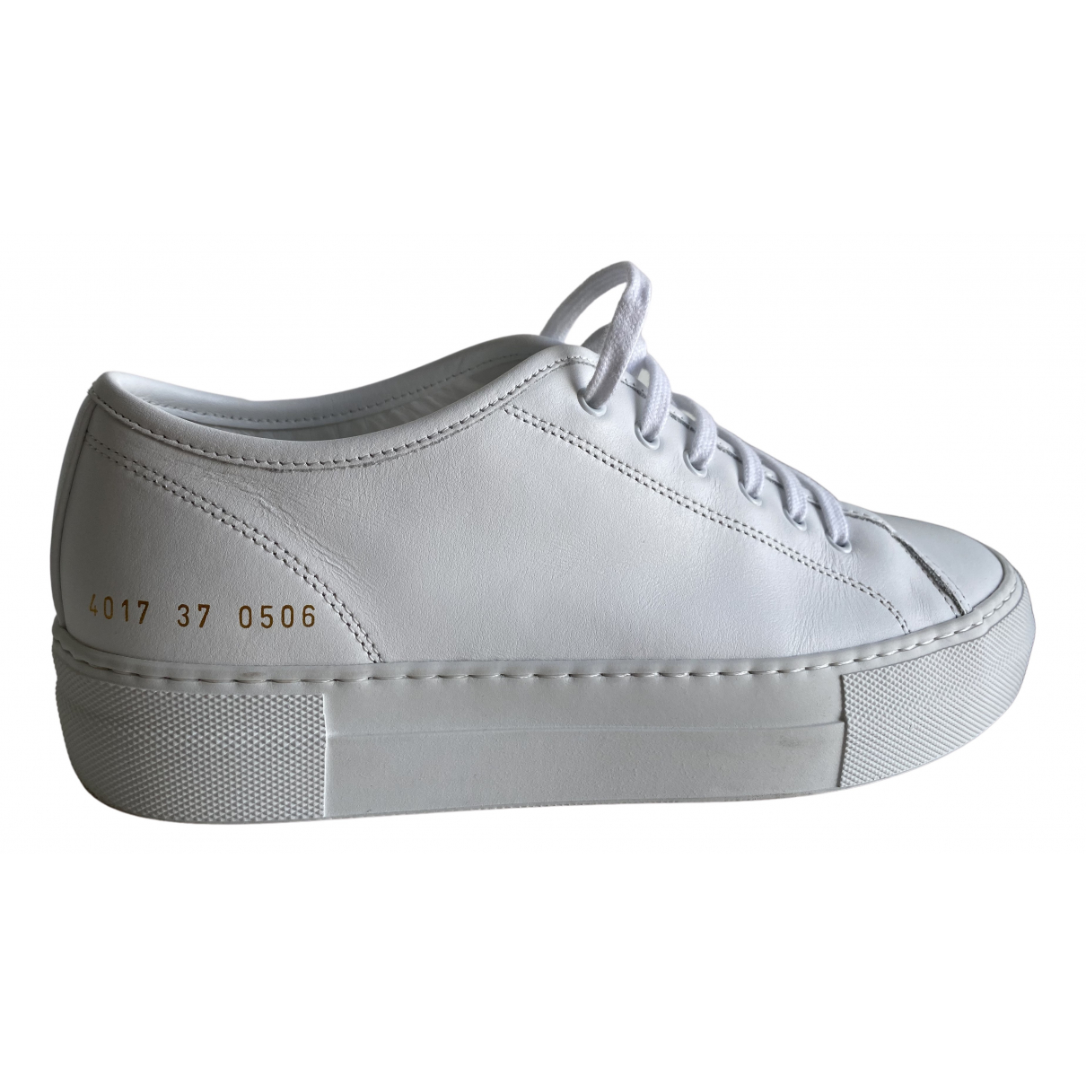 Common Projects N White Leather Trainers for Women 37 EU