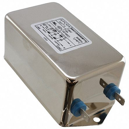 EPCOS , B84113H 20A 250 V ac/dc 50 → 60Hz, Chassis Mount EMC Filter, Screw, Single Phase