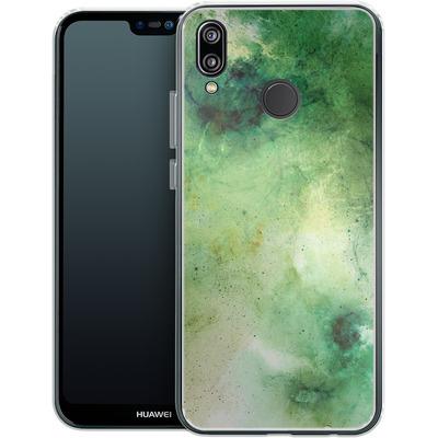 Huawei P20 Lite Silikon Handyhuelle - Abstract Galaxy - Green von Barruf