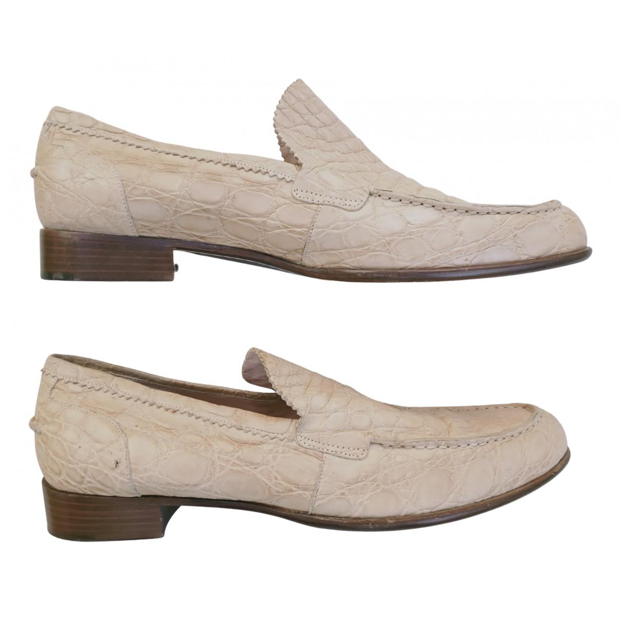 Jil Sander - Mocassins   pour femme en cuir - beige