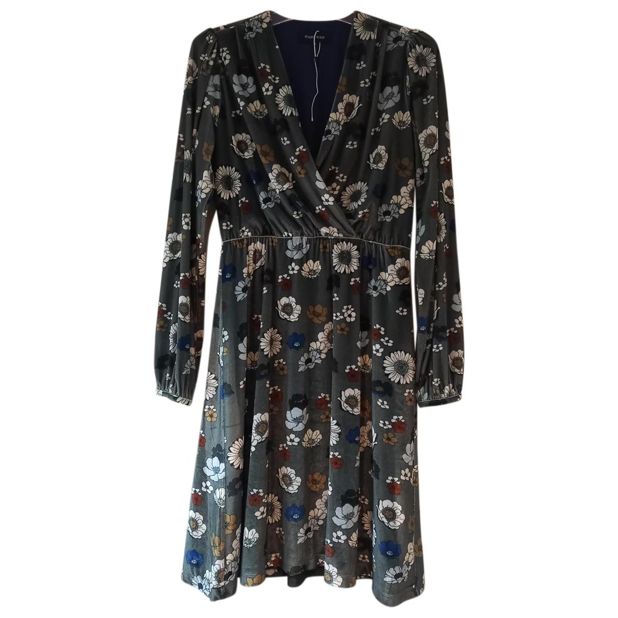 Zara - Robe   pour femme en velours - gris