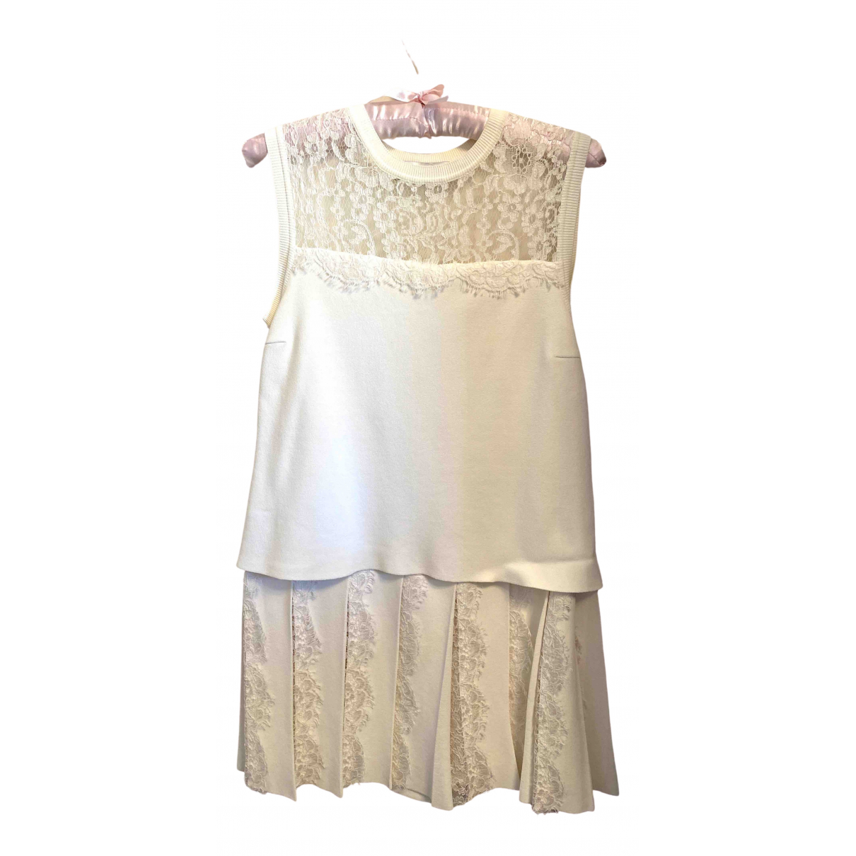 Valentino Garavani \N Kleid in  Ecru Synthetik