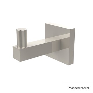 Allied Brass Montero Collection Robe Hook - 2 x 3 x 2.2 (Polished/Nickel Finish - Polished Nickel)