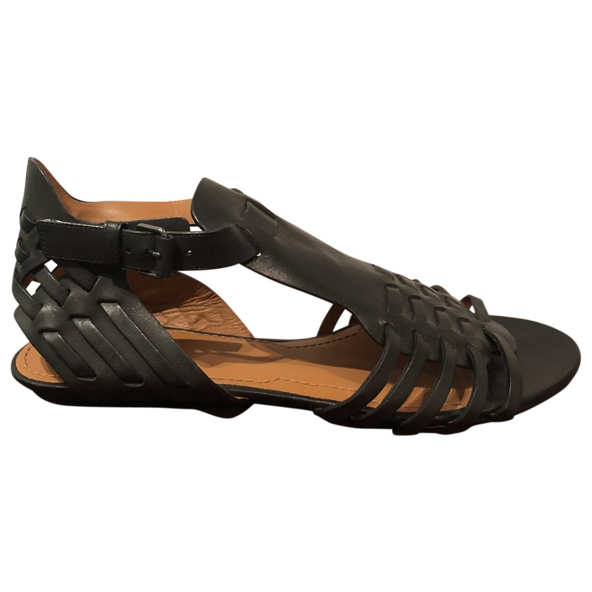 Givenchy \N Black Leather Sandals for Women 38.5 EU