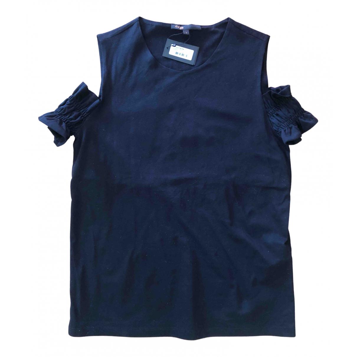 Maje - Top   pour femme en coton - noir