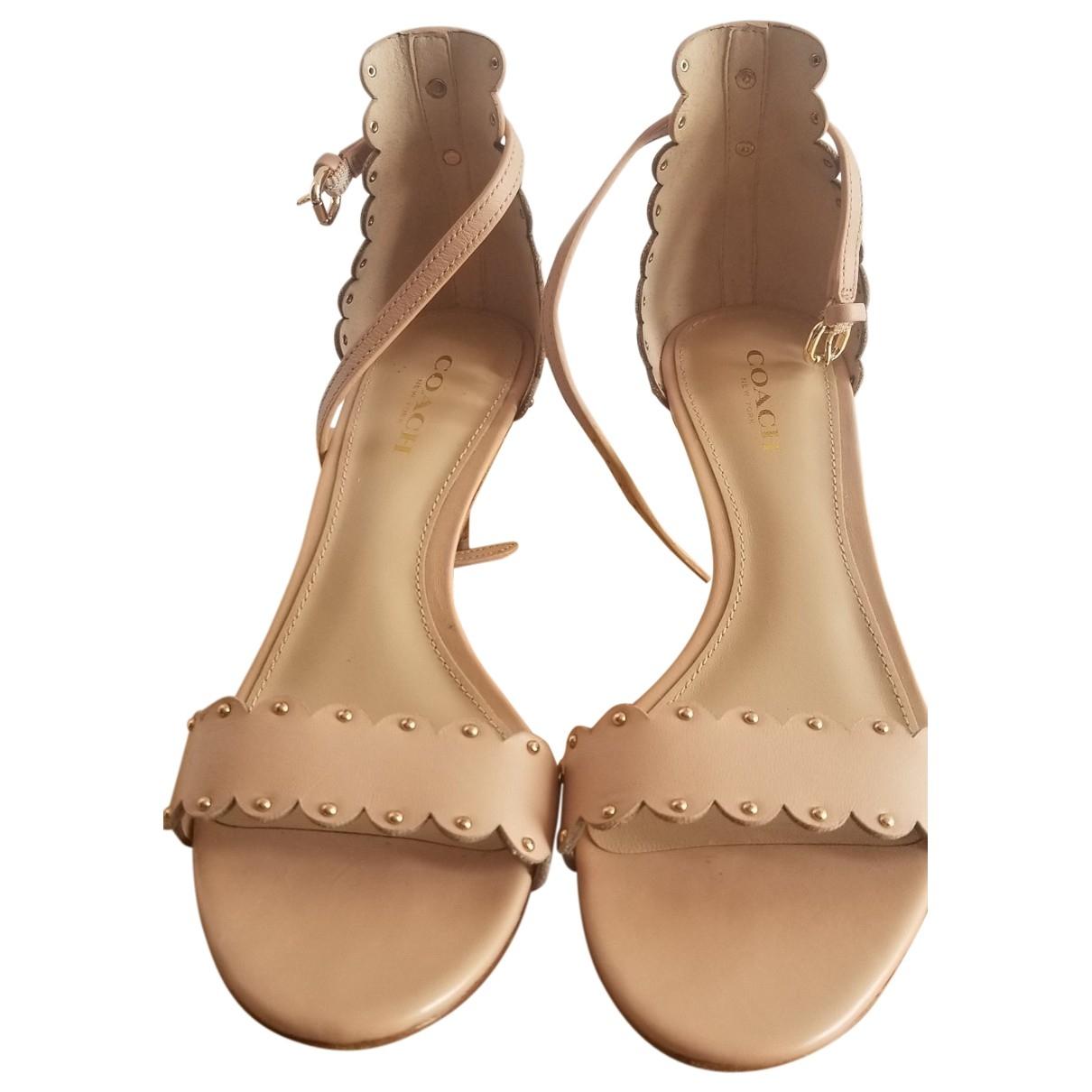 Coach - Sandales   pour femme en cuir