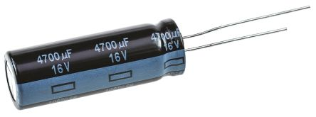 Panasonic 4700μF Electrolytic Capacitor 16V dc, Through Hole - EEUFR1C472L (2)