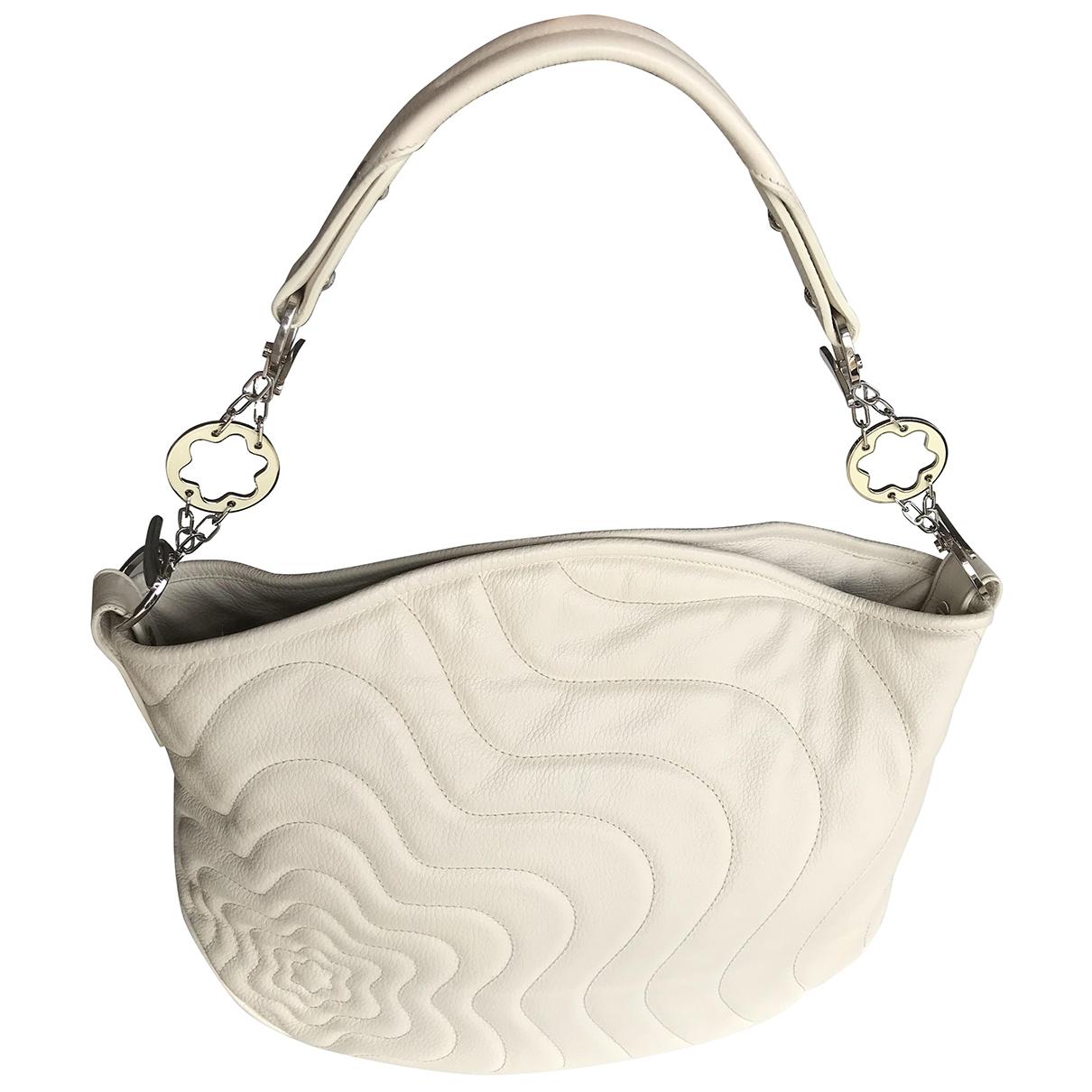 Montblanc \N Ecru Leather handbag for Women \N