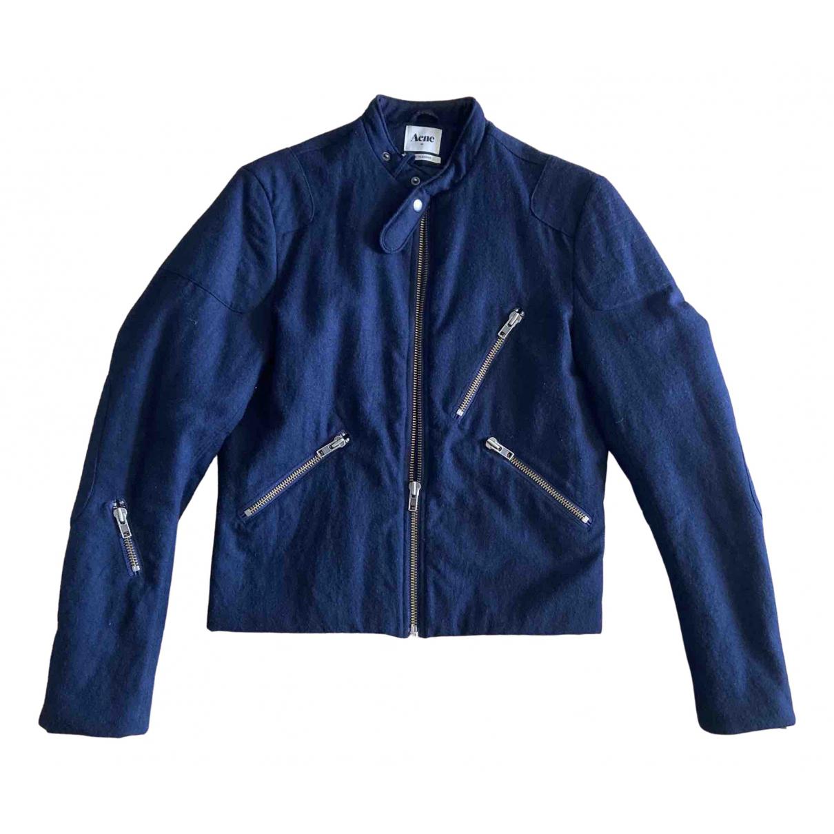 Acne Studios \N Navy Wool jacket  for Men 46 IT