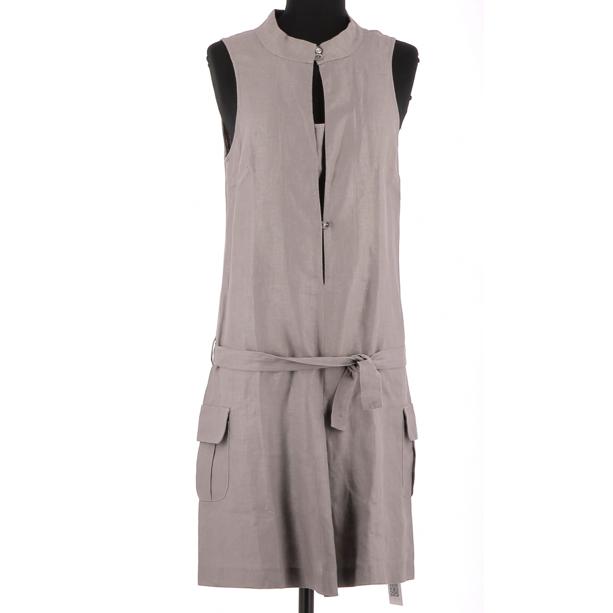 Ikks \N Grey Linen dress for Women 38 FR