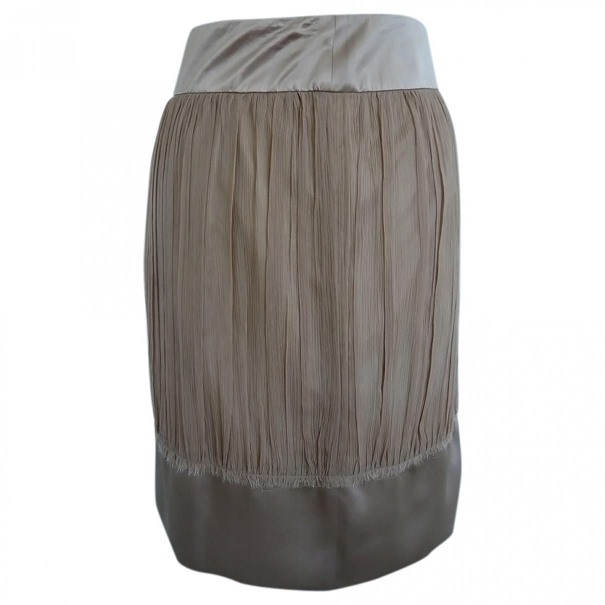 Philosophy Di Alberta Ferretti \N Beige Silk skirt for Women 42 IT