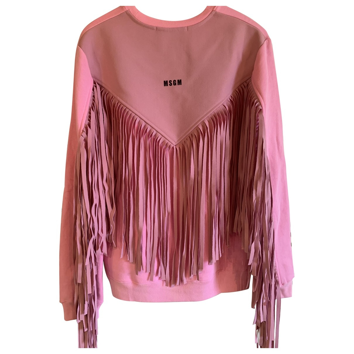Msgm \N Pullover in  Rosa Baumwolle