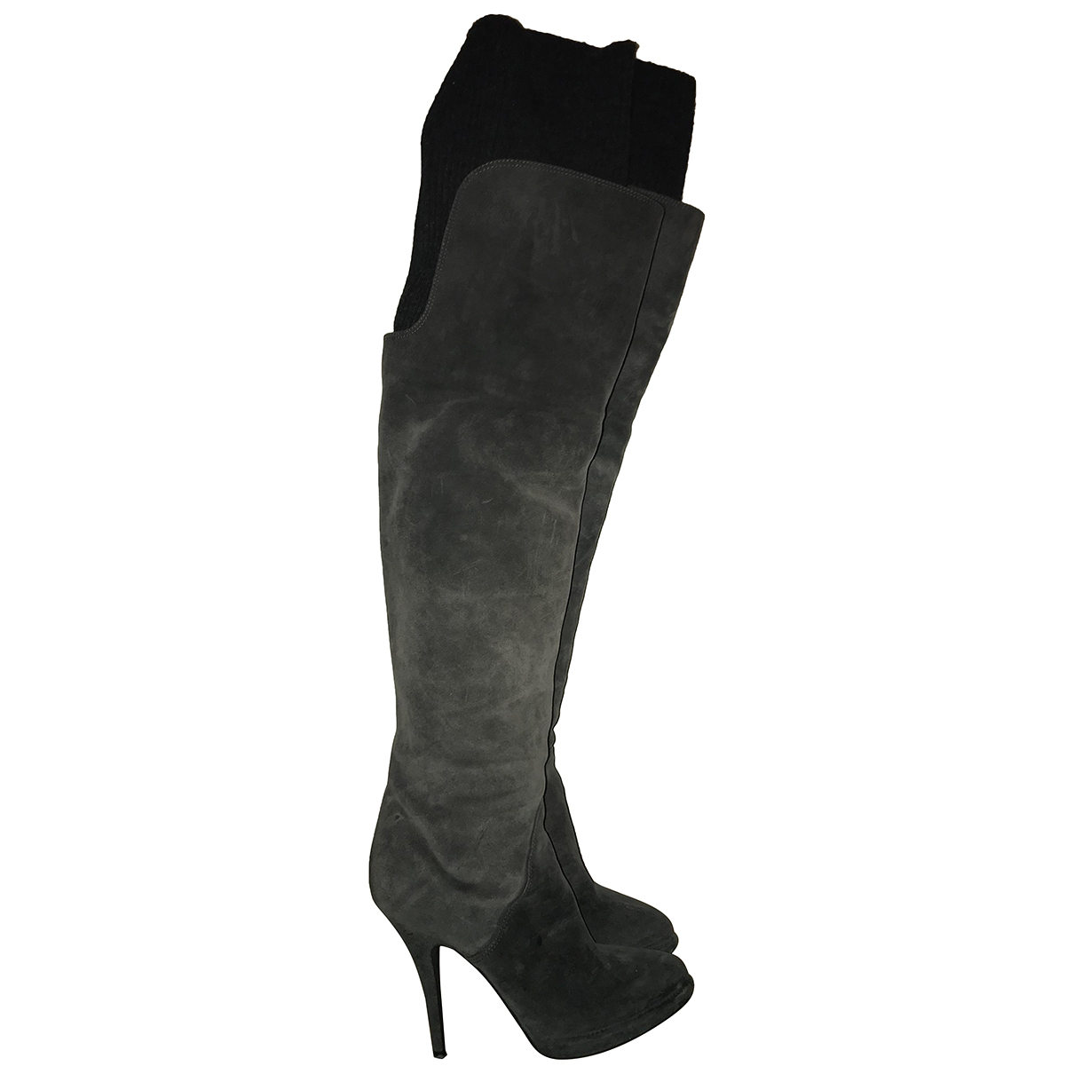 Givenchy N Anthracite Suede Boots for Women 39.5 EU
