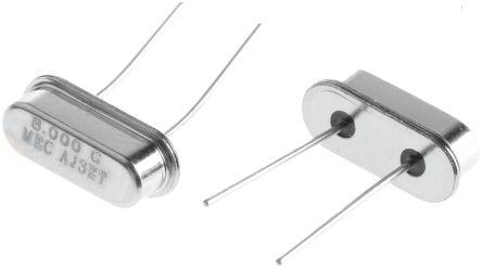 MERCURY 8MHz Crystal ±30ppm HC-49-US 2-Pin 10.7 x 4.3 x 3.5mm (5)