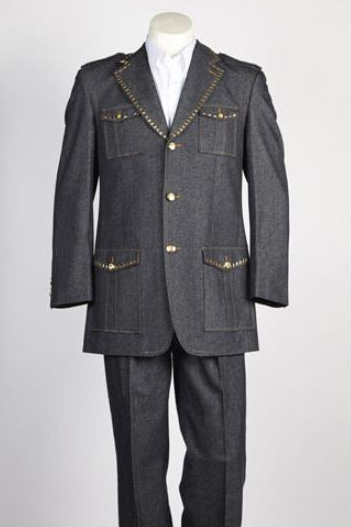 Mens Single Breasted 2 Button Black Suit