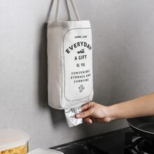 1pc Slogan Graphic Trash Bag Storage