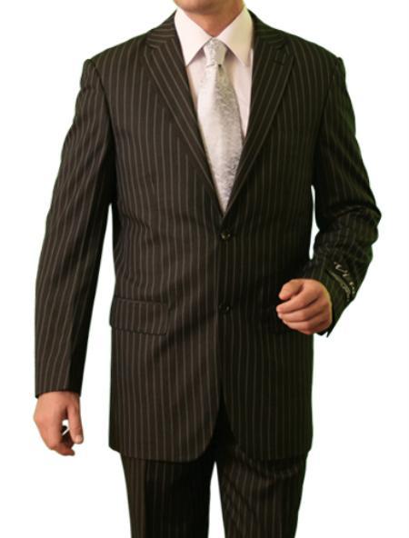 2 Button Grey Front Closure Notch Lapel Suit Mens Cheap