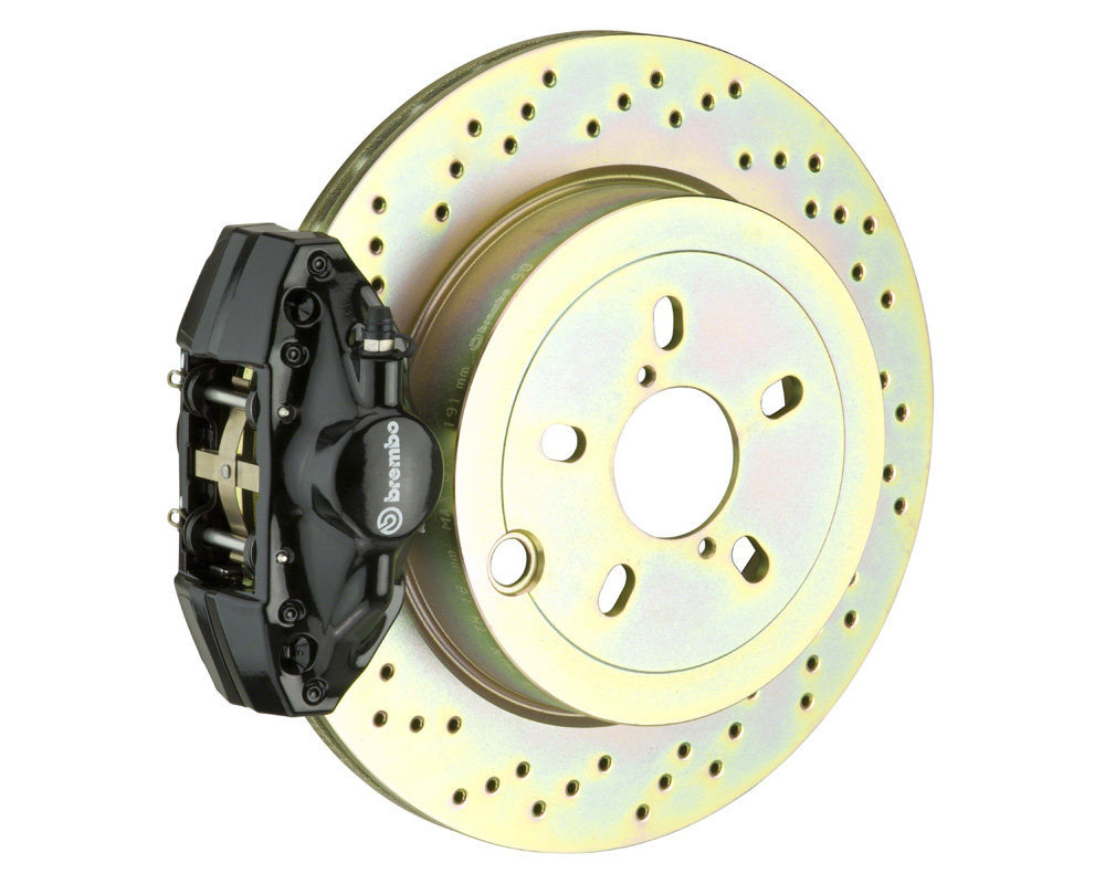 Brembo GT 316x20 1-Piece 2 Piston Black Drilled Rear Big Brake Kit
