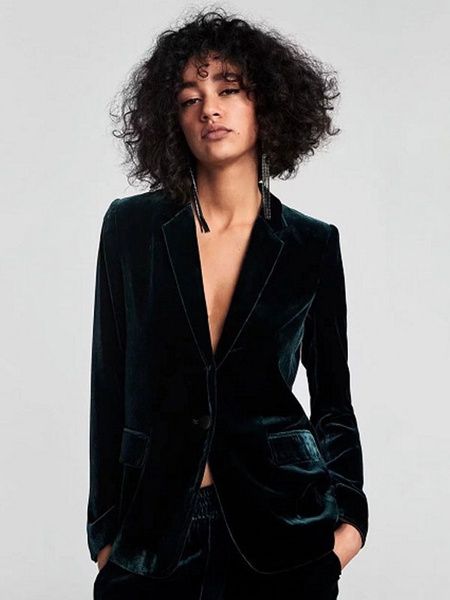Milanoo Chaqueta de terciopelo chaqueta de manga larga botones mujer chaqueta de otoño chaqueta informal